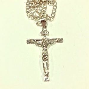 Silver Plated Cross Necklace